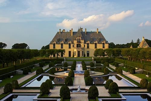 The stunning view from the gardens at Oheka Castle. New York The second largest private residence ever built in the United States is the Oheka Castle. Sometimes it's better to come in second.