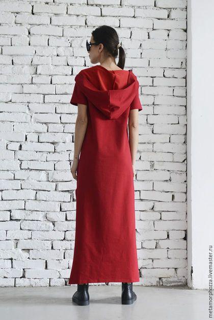 Платья ручной работы. ПЛАТЬЕ Urban red. METAMORPHOZA Veselina. Ярмарка Мастеров. Спортивное платье, повседневное платье,…