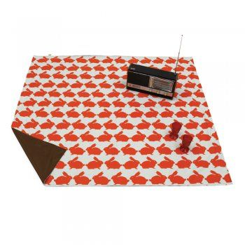 Anorak Kissing Rabbits Picnic Blanket (aka a washable outdoor playmat!)