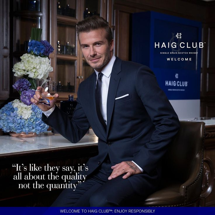 Haig Club™ is the new Single Grain Whisky developed in partnership with sporting legend David Beckham.     #DavidBeckam #whisky #HaigClub