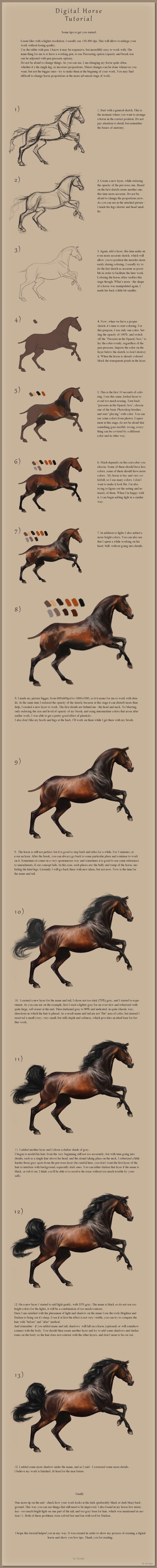 Digital Horse Tutorial by Yaveth.deviantart.com on @deviantART