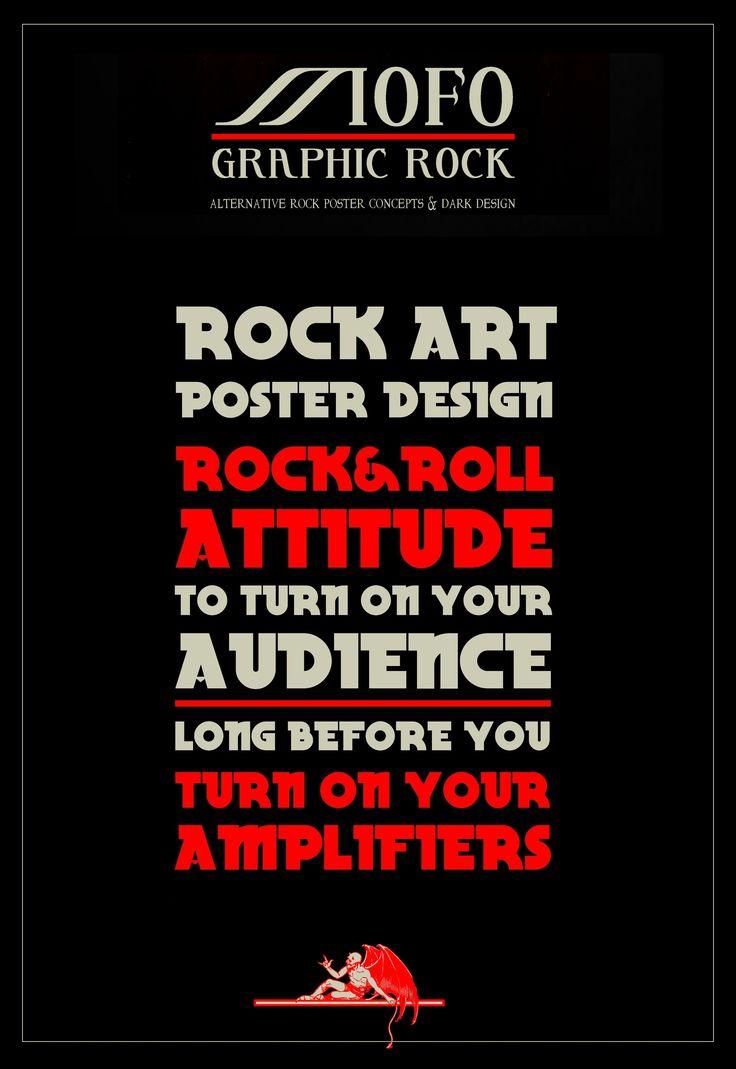Concept & design: MOFO Graphic Rock. Poster endorsing the aims of MOFO Graphic Rock designs.