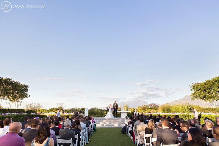 Outdoor Wedding Ceremony at Cavalli Stud Farm in Stellenbosch