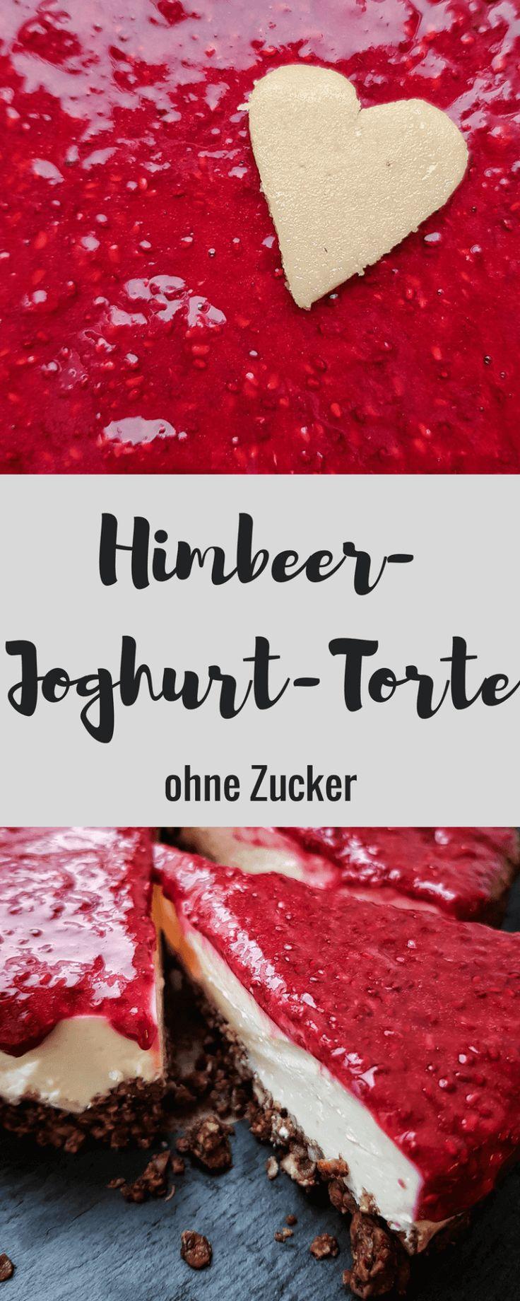 Himbeer-Joghurt-Torte ohne Zucker – nur mit Himbeer und Vanille gesüßt