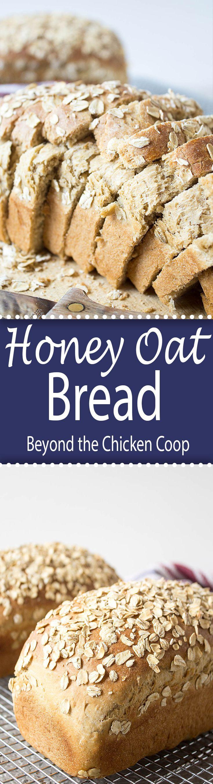 Delicious homemade honey oat bread!