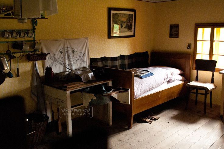 Main room in the cottage (Wallachian Open Air Museum, Rožnov pod Radhoštěm)