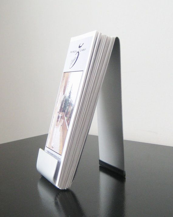 Easel Style Brochure Holder by steelribbons on Etsy