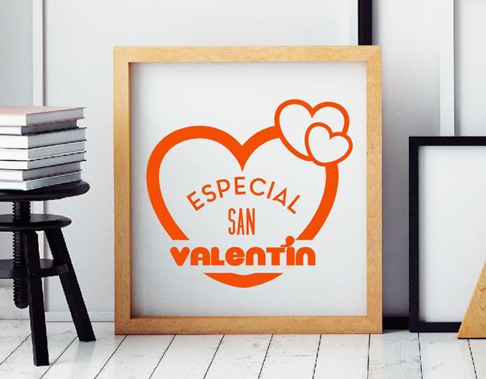 original vinilo adhesivo para decoración de escaparates para el día de san valentín. Vinilo decorativo día de los enamorados