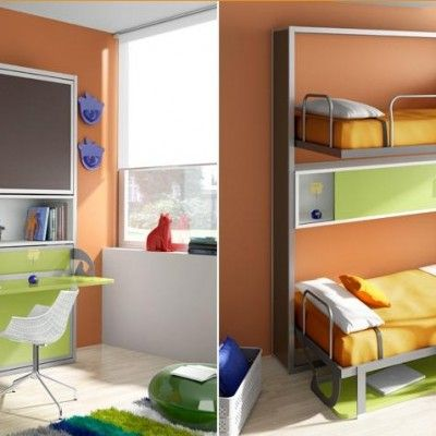 M s de 20 ideas incre bles sobre literas plegables en - Litera plegable pared ...