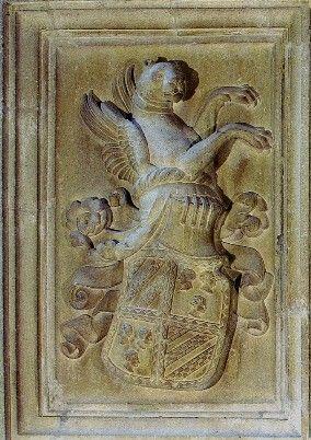 Stemma Malatesta, dalla distrutta Torre di San Giorgio, Cesena.