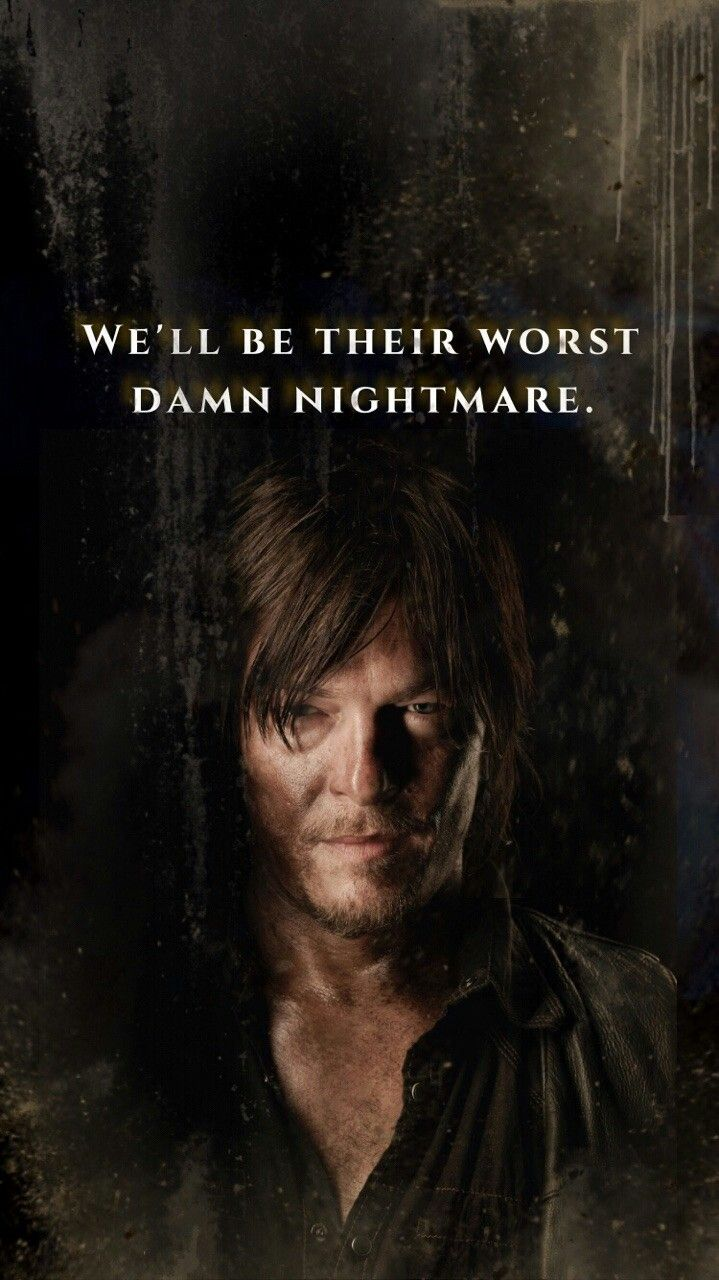 DARYL DIXON TALKING ABOUT THE SAVIORS!