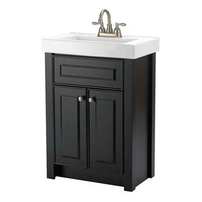 Woodnote Kitchens and Baths - 24 In. Keystone Vanity Ensemble in a Dark Chocolate Finish - 15051 - Home Depot Canada