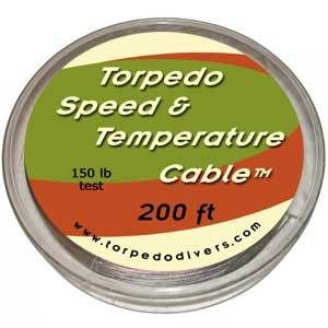 Torpedo Speed and Temperature Downrigger Cable 150# Test 200' (http://brettsplaceonthebay.com/torpedo-speed-and-temperature-downrigger-cable-150-test-200/)