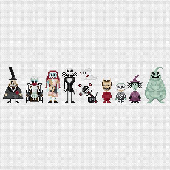The Nightmare Before Christmas Cross Stitch by pixelsinstitches