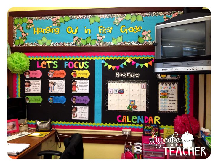 Black and neon ... Technology Theme ... A Cupcake for the Teacher: Classroom Reveal 2014-2015... Finally!