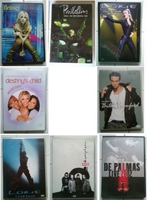 Lot DVD Musique ****************- KYO             - Kyosphère  T-bon état PHIL COLLINS    - Finally The First Farewell Tour - BERCY EN 2004 - boitier état correct - DVD T-bon état LORIE           - DVD Live Tour 2006 état: comme neuf LORIE           - DVD Live (Say goodbye (Duo avec Billy Crawford)-état comme neuf BRITNEY SPEARS  - DVD THE VIDEOS-état comme neuf DESTINY'S CHILD - World Tour-état comme neuf DEPALMAS      ...