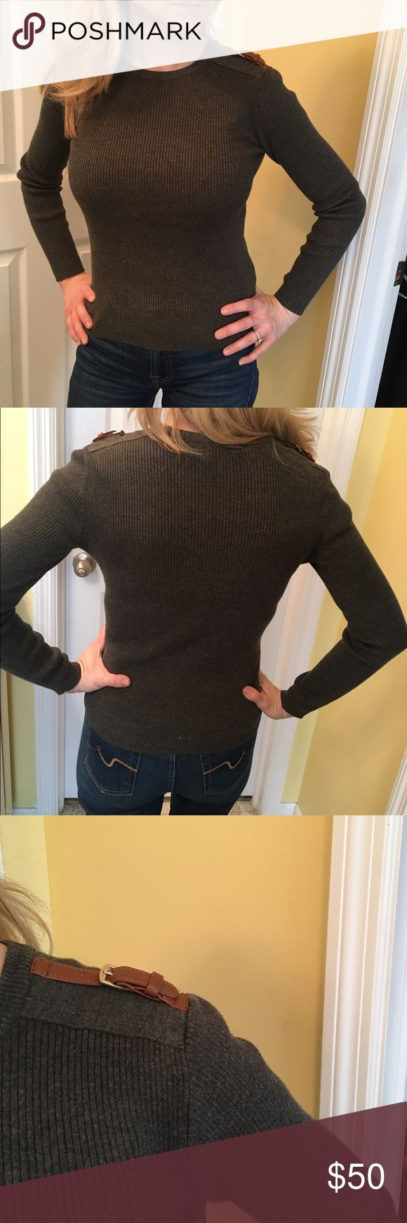 Lauren by Ralph Lauren Petite Sweater NWOT Really cute sweater by Lauren by Ralph Lauren Petite! This sweater is a charcoal gray color, 100% cotton (very soft and not itchy at all). The size is P/S and this sweater is in NWOT condition! Smoke-free home! Lauren Ralph Lauren Sweaters Crew & Scoop Necks