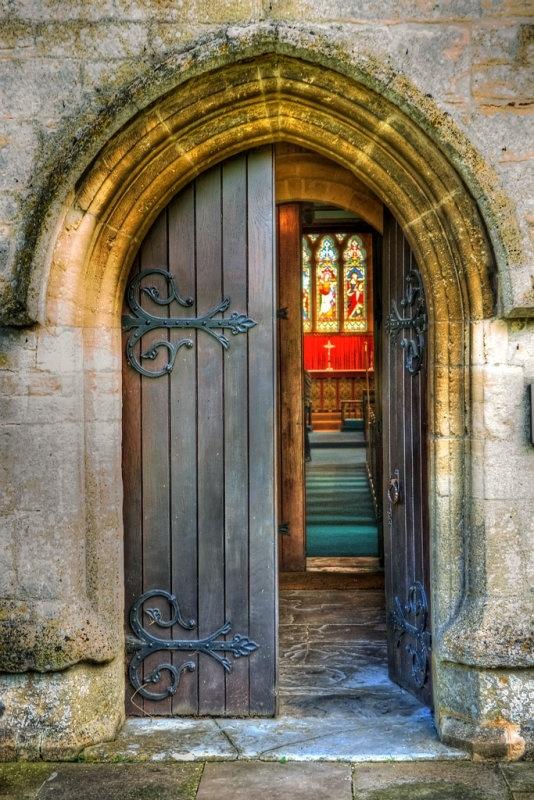 Church doors often look like CASTLE doors!