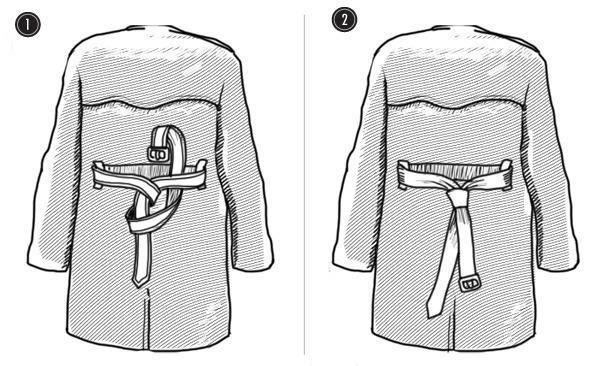 Как завязать ремень на пальто