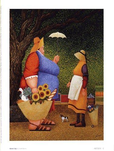 ART PRINT Village Harvest Lowell Herrero | eBay |Sunflower Harvest Lowell Herrero