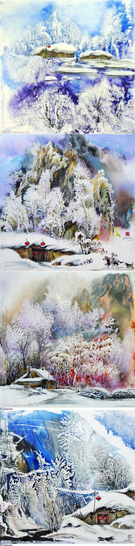 Зимняя сказка в китайских акварелях | искусство | Постила