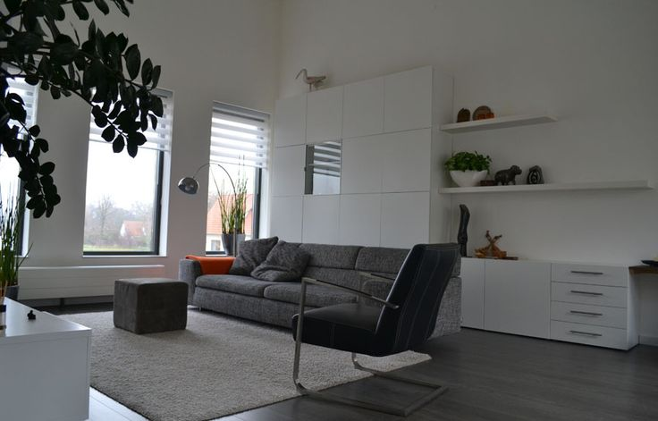 Interieurplan woonkamer door Binnenkijken Interieuradvies - Beuningen naturel, oranje, orange, Ikea besta, zitkamer, lounge, living-room www.binnen-kijken.com