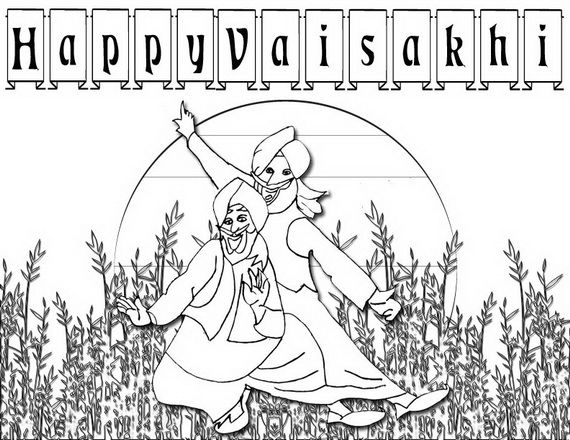 Baisakhi Coloring Pages (Vaisakhi Festival | Inspiration ...