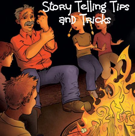 How to tell good scary campfire ghost stories