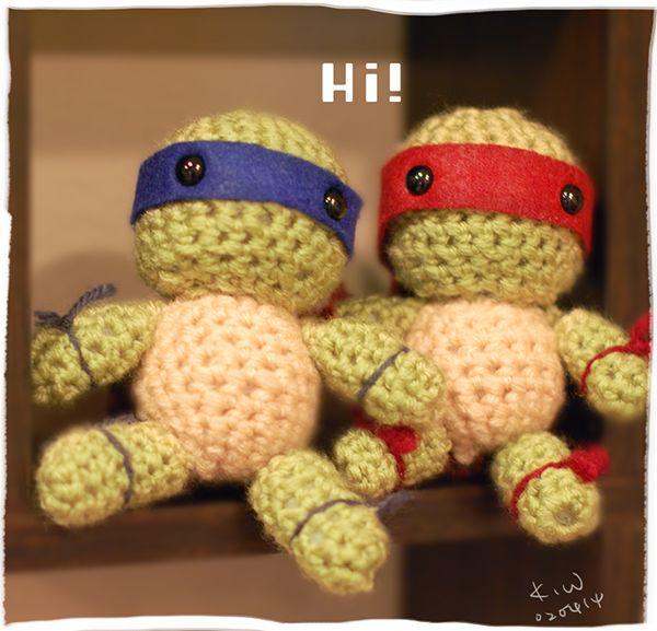 Crochet Ninja Turtle Eli bday ideas Pinterest