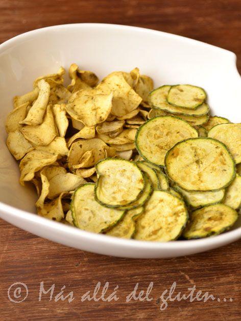 "Más allá del gluten...: ""Chips"" de Batata y Zucchini (Receta SCD, GFCFSF, Vegana, RAW)"