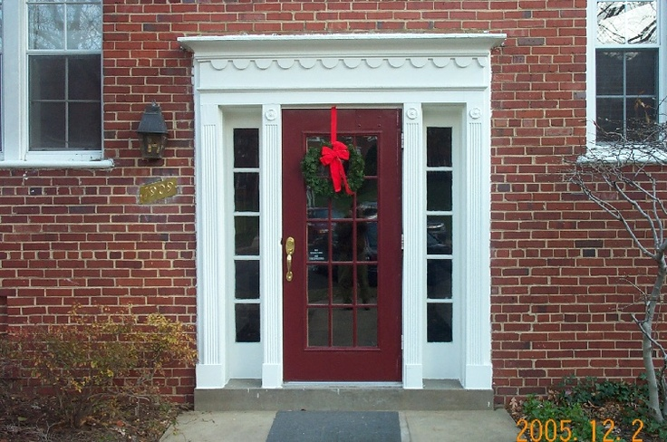 102 best images about exteriors on pinterest for Colonial entry door
