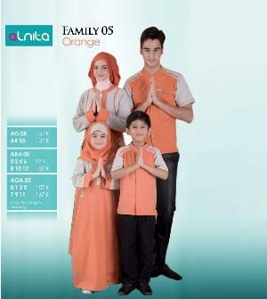 Baju Sarimbit Alnita Family 05 Orange