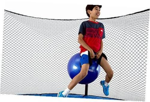 skybounce es 14' trampoline with enclosure | includes overlapping doorway entry