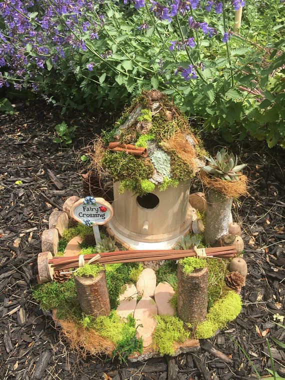 Fairy House Birdhouse Landscape Natural Outdoor Decor