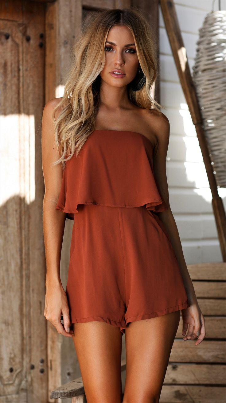 Here Comes the Sun - After Dusk Playsuit - Rust