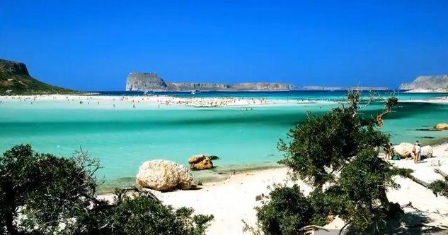 Balos is a beautiful beach area of the Greek Island of Crete.