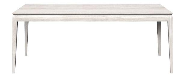 Stół dębowy AVANGARDE, kolor: 01 Off White, wymiar: 200x90x76. Miloni.pl