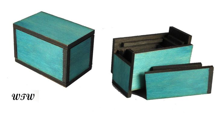 Black & Blue Matchbox Designed by B. Vinney Made by W.Ware