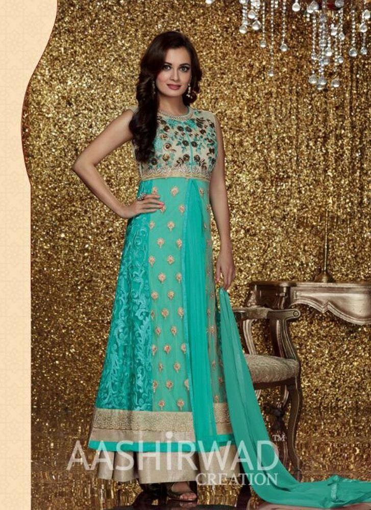 Anarkali Pakistani Kameez Designer Suit Ethnic New Salwar Indian Bollywood Dress #KriyaCreation #DesignerSuit