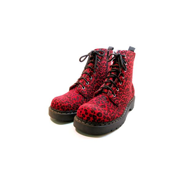 TUK BOOTS LEOPARD RED in Shoes Women at Sourpuss Clothing (195 BRL) ❤ liked on Polyvore featuring shoes, boots, ankle booties, red, footwear, leopard print ankle booties, leopard print boots, leopard booties, red booties and red ankle booties