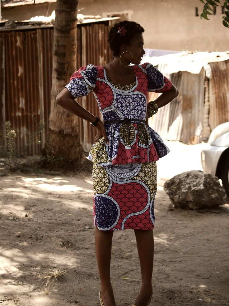 African Prints in Fashion: You asked for it: Peplum Dresses!