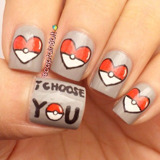valentine by captain8bit  #nail #nails #nailart