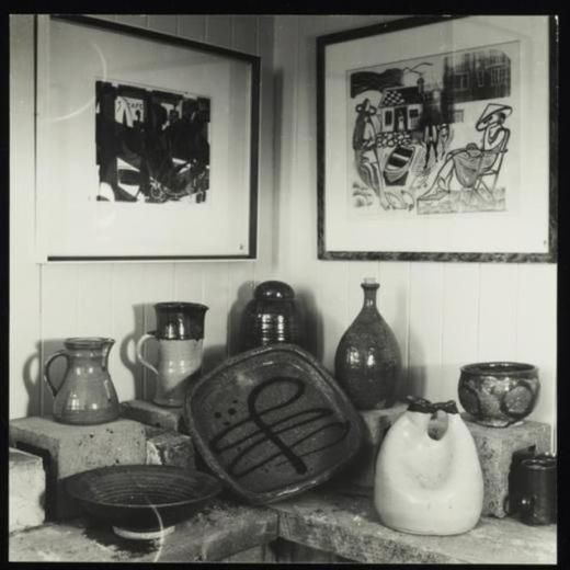 Barry Brickell pottery and Stewart Maclennan prints on display at Waihi Arts Centre and Museum - Museum of New Zealan...