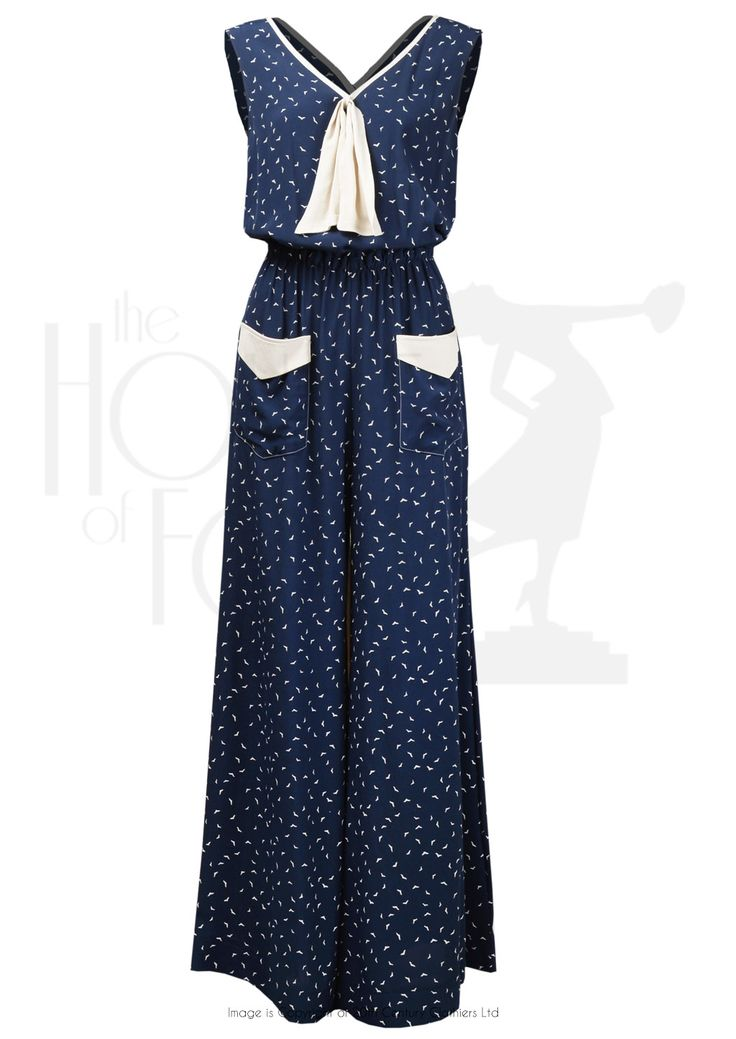 Love - Love - Love!!  By The House Of Foxy...... 30s Style Beach Pyjamas in Starling Crepe