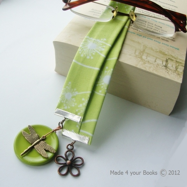 Dragonfly Bookmark from Folksy