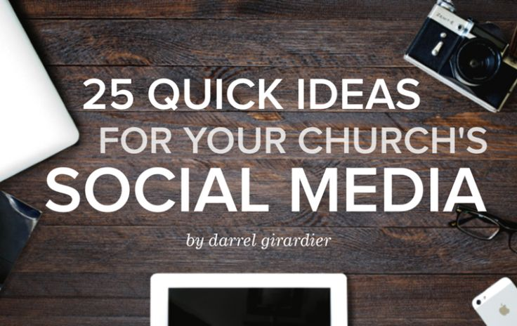 Because we know 90% of all youth workers are automatically the social media experts in their church. Check out these great ideas from Darrel Girardier on the YS Blog.