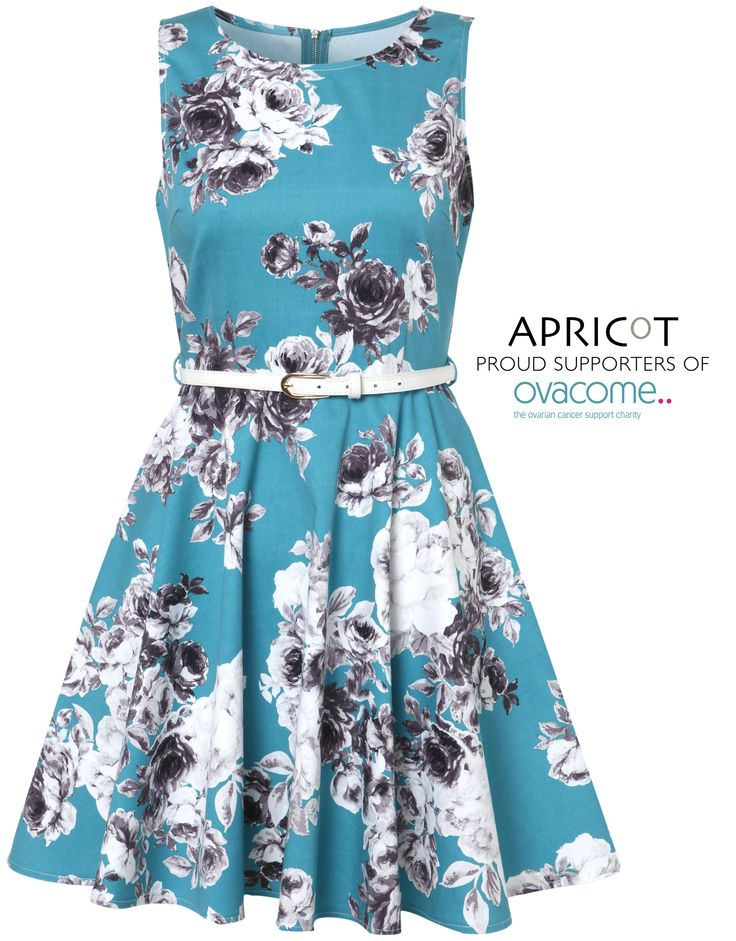 Exclusive to Apricot, Michelle Heaton wears the co-designed dress with ALL PROFIT going to the Ovacome charity.