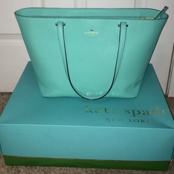 Kate Spade Tote Tiffany blue Kate spade tote handbag kate spade Bags Totes