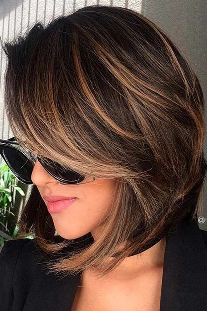 47 Highlighted Hair For Brunettes Cute Haircuts Pinterest