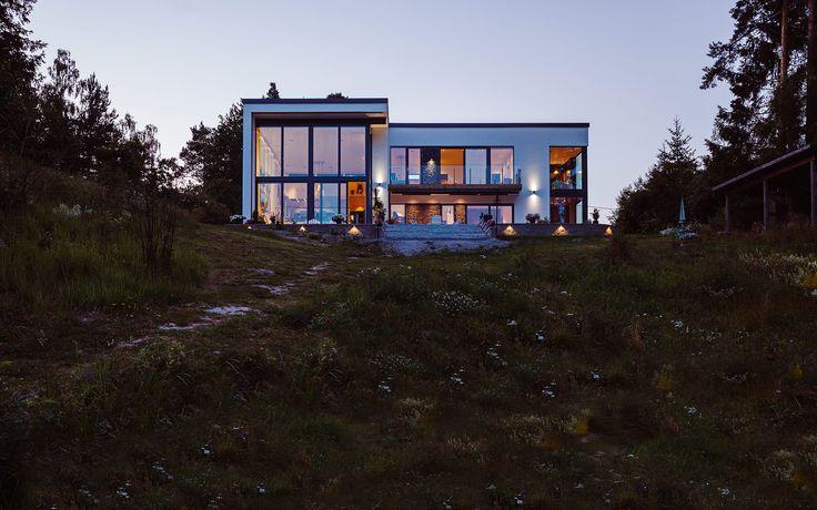 """Modernt hus A2945  """"Alla familjer är olika – därför är varje Willa Nordic unikt!"""" www.willanordic.se"""